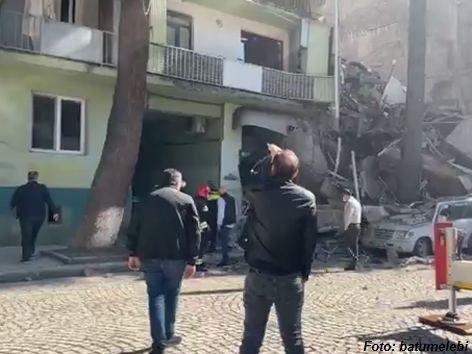 Teil eines Wohnhauses in Georgien eingestürzt